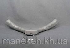 Вешалка-плечики широкие 47-6 ппр серебро,бронза, фото 3