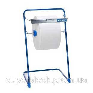 Держатель для протирочных материалов напольный металлический синий
