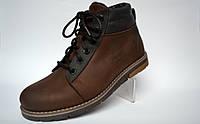 Коричневые зимние мужские ботинки Rosso Avangard. Bridge Street Brown кожаные