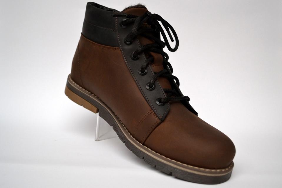 Коричневые зимние мужские ботинки большого размера Rosso Avangard Bridge Street Brown BS кожаные