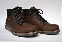 Подростковая зимняя обувь для мальчиков Teendream Коричневые ботинки. Bridge Street Brown кожаные, фото 1
