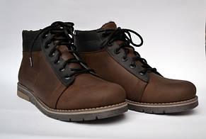 Подростковая зимняя обувь для мальчиков Teendream Коричневые ботинки. Bridge Street Brown кожаные