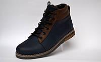 Синие зимние мужские ботинки Rosso Avangard Bridge Street Blu кожаные, фото 1