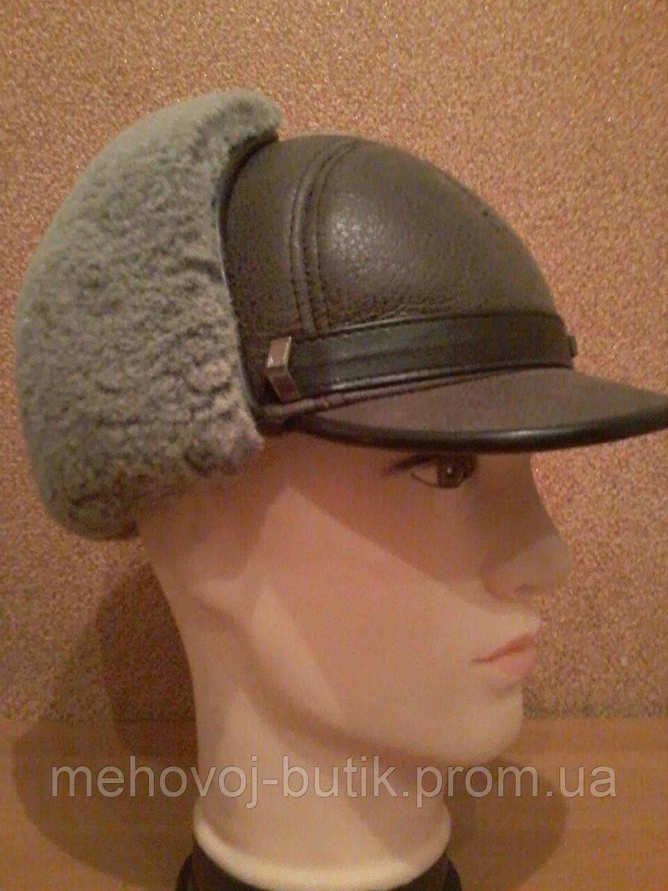 Мужская шапка из натуральной овчины модель Форт 3 м  - МЕХОВОЙ БУТИК ЗИМУШКА в Полтаве