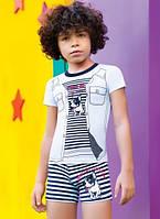 Летняя пижама, комплект для мальчика 4-10 лет, Бульдог, Berrak
