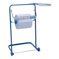 Держатель для протирочных материалов напольный синий металлический с креплением для мусорного мешка