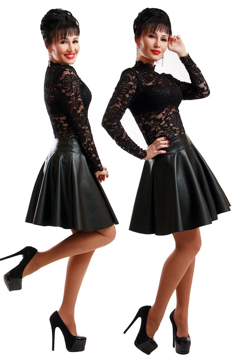 Короткая юбка Экокожа 45 см.