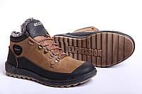 Ecco Yak Biom Olive - зимние ботинки из натуральной кожи на меху