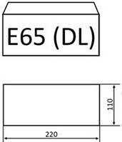 Конверты формата Е65 для пригласительных
