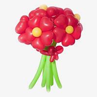 Букет из воздушных шариков, цветы из воздушных шариков. В букете 7 цветочков