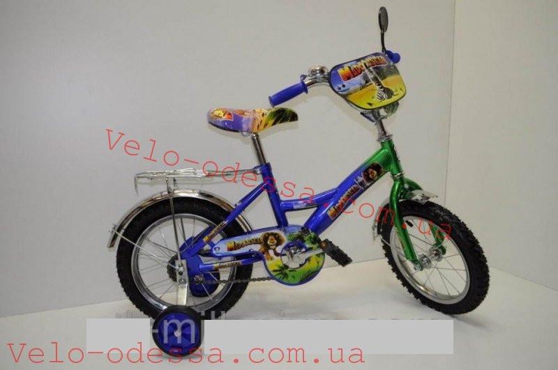 Детский двухколесный велосипед мадагаскар 14 дюймов