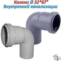 Отвод внутренней канализации ⍉32 х 87°