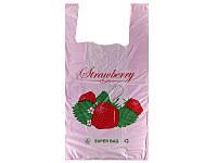 "Пакет майка ""Клубника"" Super Bag  (29x55) (уп.100шт)"