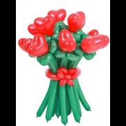 Букет из воздушных шариков, цветы из воздушных шариков. В букете 11 цветочков