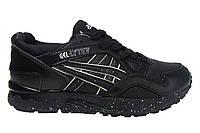 Мужские кроссовки Asics,натуральная кожа, черные, Р. 41,5 42 44 45