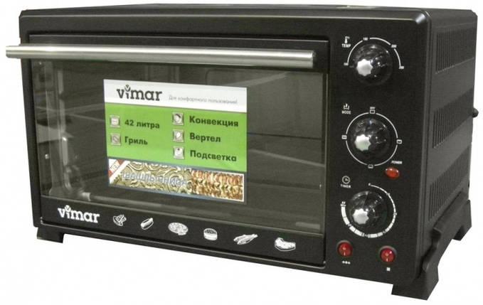 Духовка электрическая VIMAR VEO - 4244 на 42 литра , шашлычница + гриль + конвекция + подсветка , фото 2