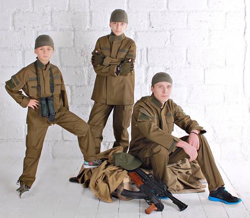 Детский военный костюм для мальчиков Киборг цвет Хаки, фото 2