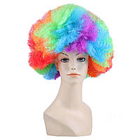 Парик Клоуна большой карнавальный цветной