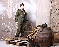 Детский камуфляж костюм для мальчиков Лесоход цвет хаки
