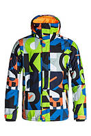 Горнолыжная куртка QUIKSILVER MISSION PRINT RANDOMQK WHITE xl, фото 1