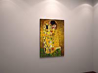 Репродукция  картины Густав Климт Поцелуй