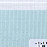 Рулонные шторы День Ночь Ткань Сафари ВН-04 Светло-голубой