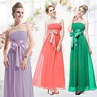 Вечернее платье с бантом, разные расцветки