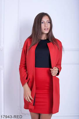 Жіночий червоний кардиган з неопрену Fancy