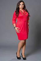 Платье приталеного силуэта, с вышивкой, р-ры: 48,52,54,56,58