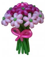Букет из воздушных шариков, цветы из воздушных шариков. В букете 15  цветочков