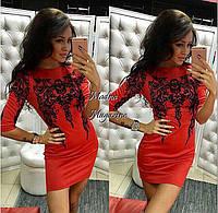 Красивое женское платье из трикотажа(в расцветках)