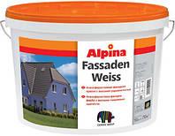 Краска атмосферная дисперсионная фасадная ALPINA Fassadenweiss B1 10л
