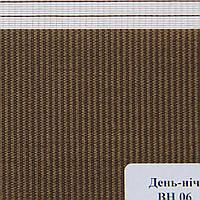 Рулонные шторы День Ночь Ткань Сафари ВН-06 Коричневый