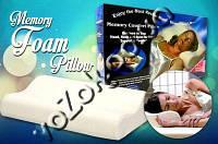 Ортопедическая подушка с памятью Comfort Memory Foam Pillow (Комфорт Мемори Фом Пиллоу), фото 1