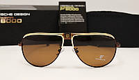 Мужские солнцезащитные очки Porsche Design 8486 коричневый цвет