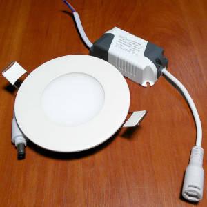 Светильник точечный светодиодный 3Вт врезной Biom круглый теплый белый свет, фото 2