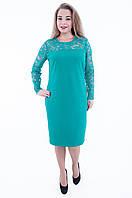 Нарядное платье с кружевом мятного цвета 565, фото 1