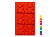 """Форма силиконовая для выпечки печенья """"Барни"""" (6 шт. на листе), Stenson,  XY-C1140"""