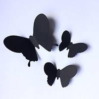 Декоративные 3д бабочки для интерьера Набор 3d Павлин (картонная интерьерная наклейка), Комплект 25 шт.