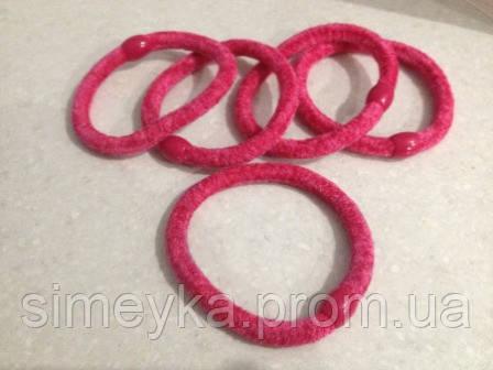 Резинка для волос велюровая малиновая, диаметр 6 см, 1 шт.