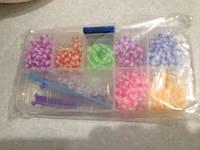 Резинки для плетения браслетов в органайзере