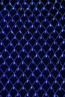 Новогодняя гирлянда сетка 120 Short curtain-3B  синяя