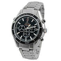Мужские наручные часы Omega Seamaster Planet Ocean Chronograph Steel Silver/Black/Black