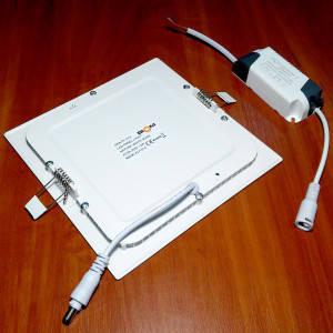 Светильник точечный светодиодный 12Вт врезной Biom квадратный нейтральный белый сввет, фото 2