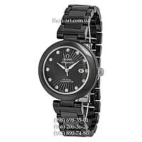 Женские наручные часы Omega De Ville Ladymatic Ceramic All Black/Silver
