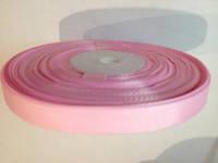 Лента для американских бантов репсовая 1 см нежно-розовая