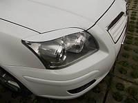 Реснички на фары Toyota AVENSIS 2005-2009 г.в. рестайлинг  Тойота Авенсис