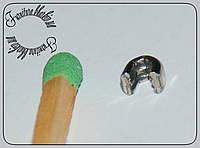 Верхний ограничитель для металлической молнии №3 никель