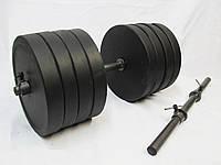 Гантели разборные 2 шт по 40 кг, гриф 25 Ø длина 52 см.