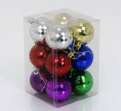 Елочные шары 5 см, 12 шт
